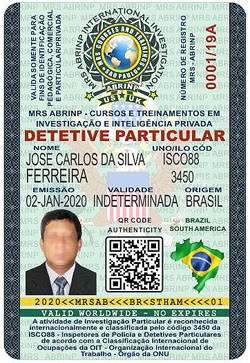 Carteira do Curso de Agente Internacional